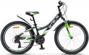 "Велосипед Stels Navigator 24"" 440 V V020 Серый/Неоновый-Зеленый"
