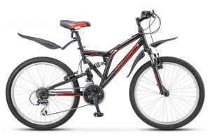 "Велосипед Stels Challenger 24"" V Z010 Чёрный/Красный"