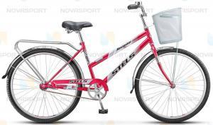 Велосипед Stels Navigator 210 Lady 26 (2016) Пурпурный/Красный (с корзиной)