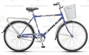 Велосипед Stels Navigator 210 Gent 26 (2016) Синий (с корзиной)
