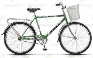 Велосипед Stels Navigator 210 Gent 26 (2016) Темно-зеленый/Серебристый (с корзиной)