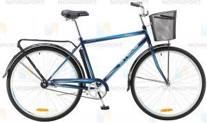 Велосипед Stels Navigator 310 Gent 28 (2016) Темно-синий/Голубой (с корзиной)