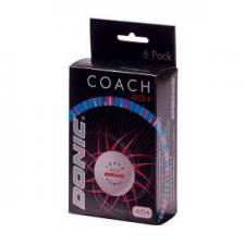 Мячики для настольного тенниса DONIC 40+Coach Ball пластик белые