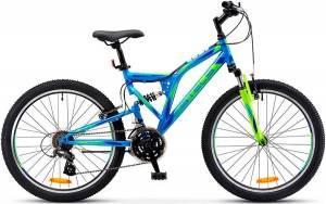 """Велосипед Stels Mustang 24"""" V V030 Черный/Синий/Зеленый"""