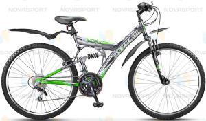 Велосипед Stels Focus V 18 sp 26 (2015) Темно-серый/Зеленый/Белый