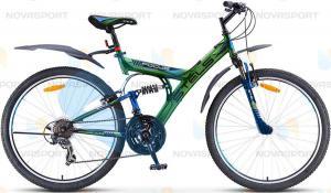 Велосипед Stels Focus V 18 sp 26 (2016) Зеленый/Синий/Черный