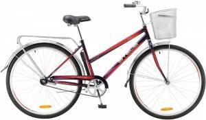 """Велосипед Stels Navigator 26"""" 210 Lady V010 Пурпурный/Красный (с корзиной)"""