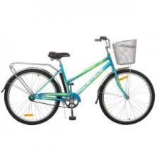 """Велосипед Stels Navigator 26"""" 210 Lady V010 Морская волна/Салатовый (с корзиной)"""