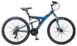 """Велосипед Stels Focus 26"""" MD 21 sp V010 Чёрный/Синий"""