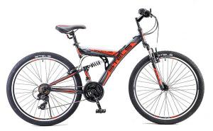 """Велосипед Stels Focus 26"""" V 18 sp V030 Черный/Красный"""