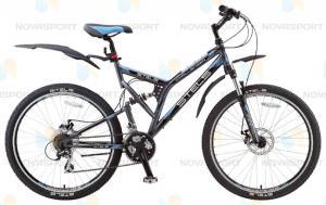 Велосипед Stels Challenger MD 26 (2015) Темно-серый/Черный/Голубой