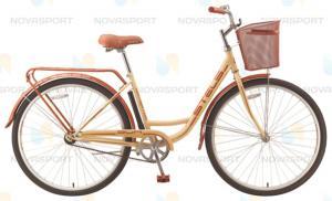 Велосипед Stels Navigator 340 Lady 28 (2016) Красный/Золотой (с корзиной)