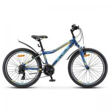 "Велосипед Stels Navigator 24"" 410 V 21 sp V010 Темно-синий/Желтый (LU091557)"