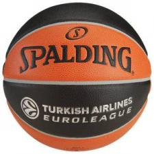 Мяч баскетбольный SPALDING TF-1000 Legacy Euroleague Official Bail логотип Евролиги