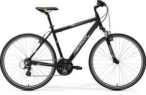 Велосипед Merida Crossway 10-V Matt Black/Green/Grey (2017)