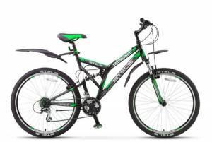 Велосипед Stels Crosswind V 21-sp Z010 Черный/Салатовый