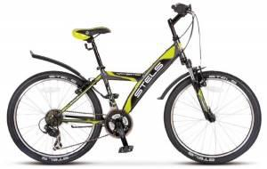 "Велосипед Stels Navigator 24"" 410 V 18 sp V030 Серый/Салатовый/Черный"