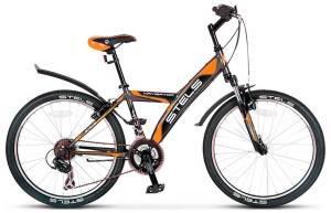 """Велосипед Stels Navigator 24"""" 410 V 18 sp V030 Серый/Оранжевый/Черный"""