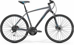 Велосипед Merida Crossway 100 Matt Anthracite/Blue/Black (2017)